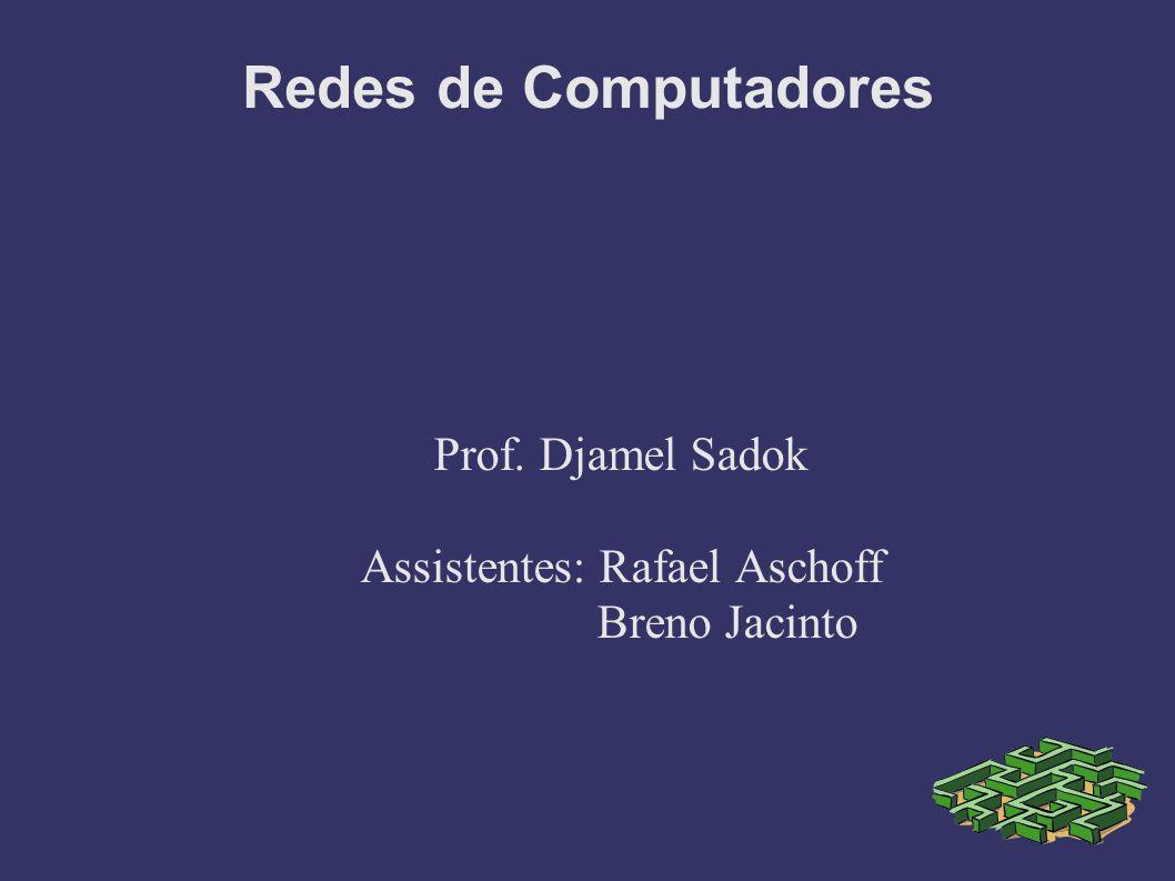 Prof. Djamel Sadok Assistentes: Rafael Aschoff Breno Jacinto