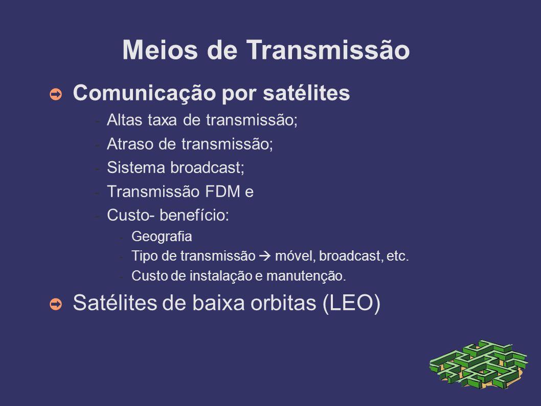 Meios de Transmissão Comunicação por satélites