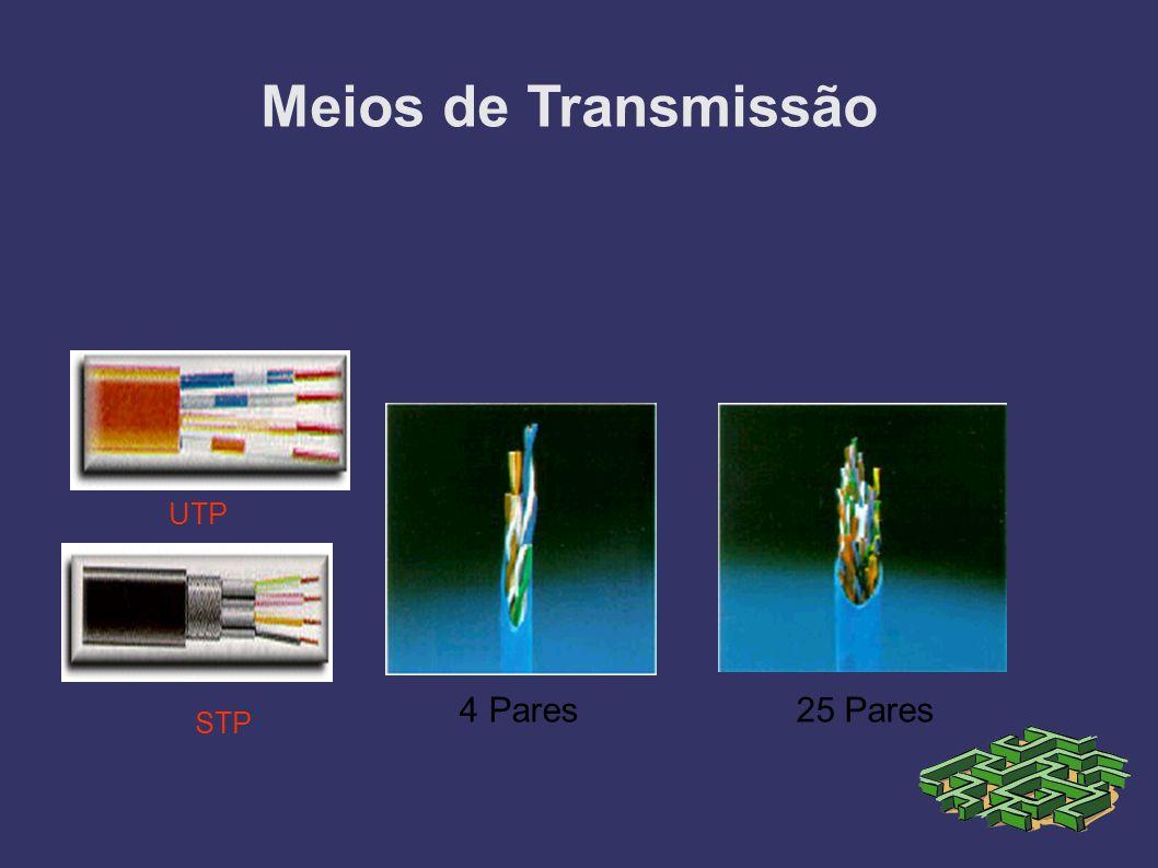 Meios de Transmissão UTP 4 Pares 25 Pares STP