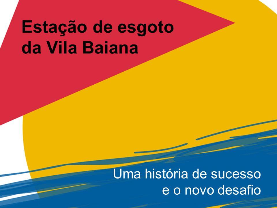 Estação de esgoto da Vila Baiana