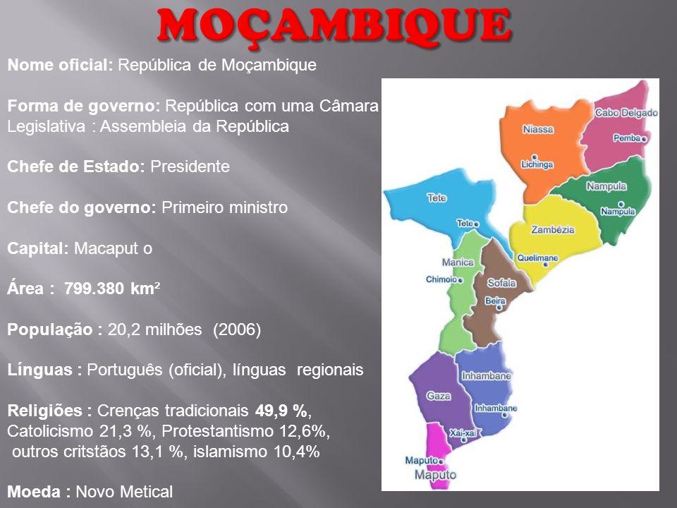Moçambique Nome oficial: República de Moçambique
