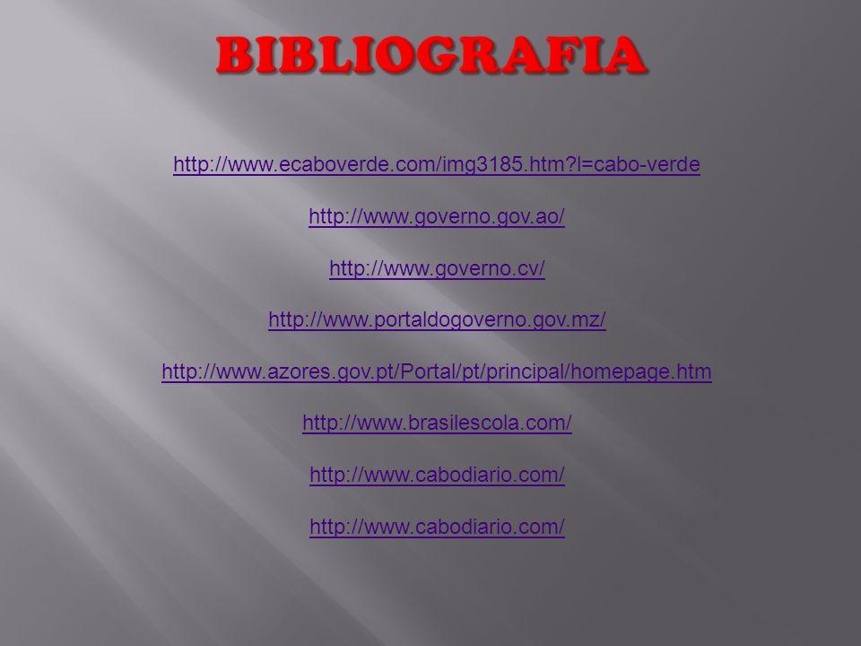 BIBLIOGRAFIA http://www.ecaboverde.com/img3185.htm l=cabo-verde