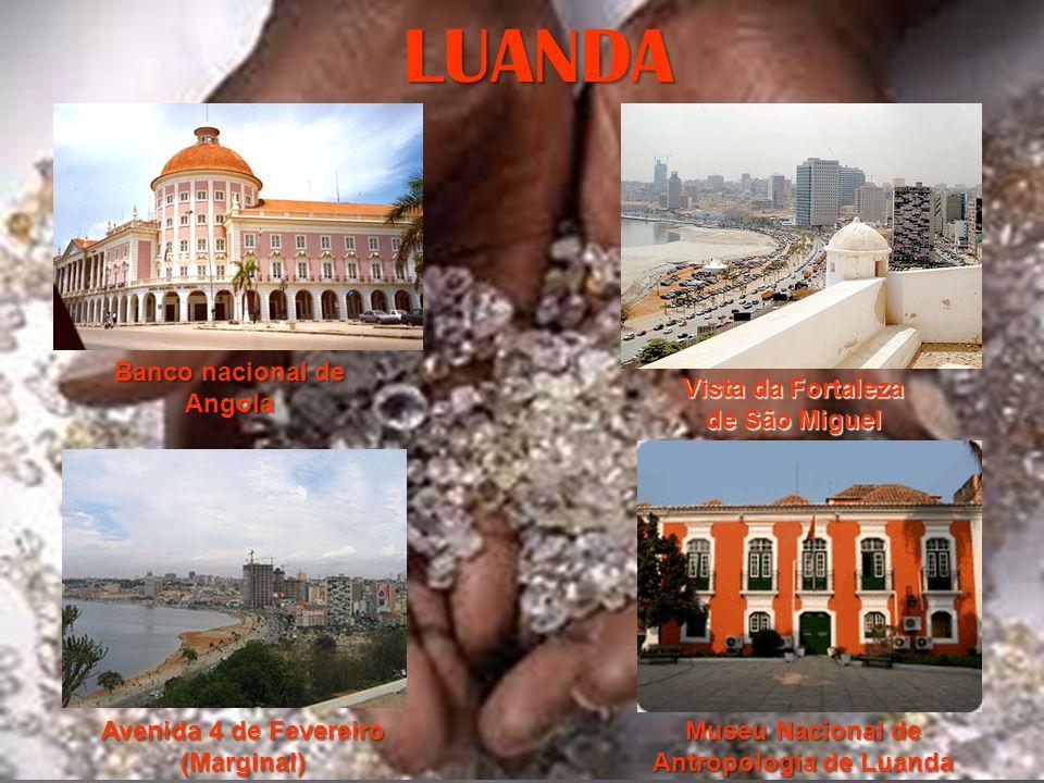 LUANDA Banco nacional de Angola Vista da Fortaleza de São Miguel