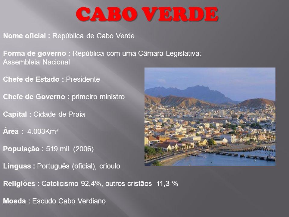CABO VERDE Nome oficial : República de Cabo Verde