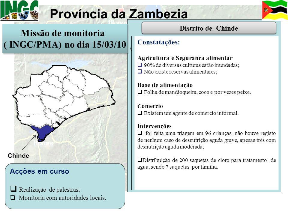 Província da Zambezia Missão de monitoria ( INGC/PMA) no dia 15/03/10