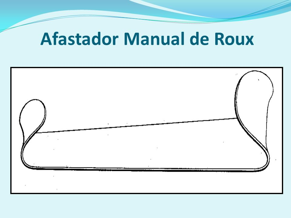 Afastador Manual de Roux