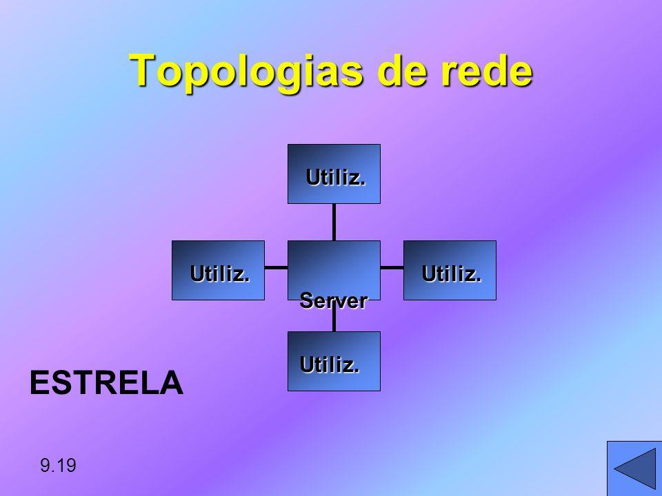 Topologias de rede ESTRELA Server Utiliz. 9.19
