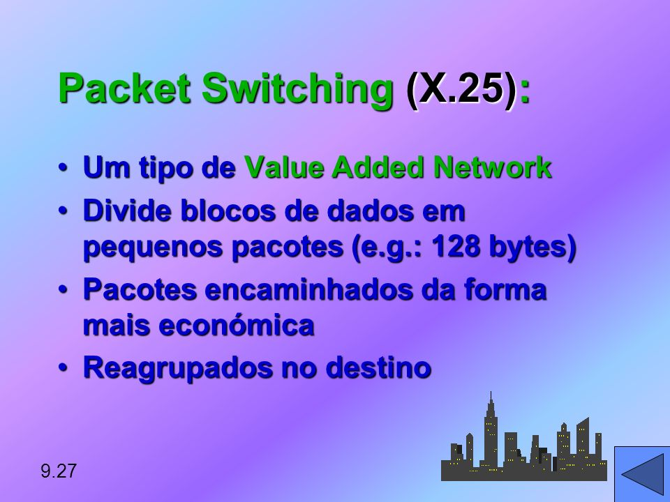 Packet Switching (X.25): Um tipo de Value Added Network