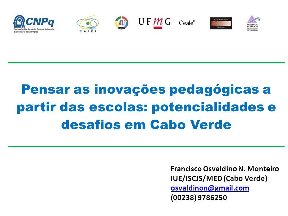 Pensar as inovações pedagógicas a partir das escolas: potencialidades e desafios em Cabo Verde