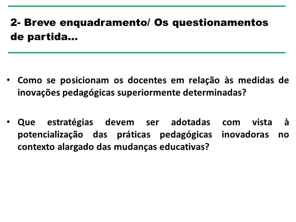 2- Breve enquadramento/ Os questionamentos de partida…