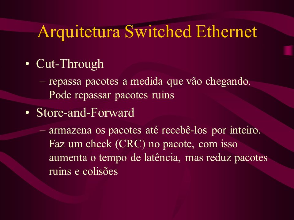 Arquitetura Switched Ethernet