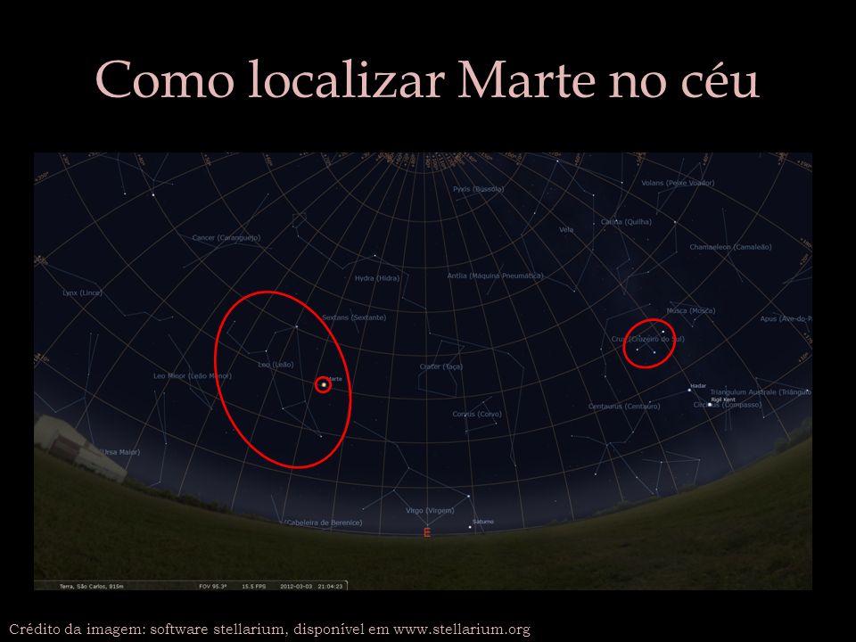 Como localizar Marte no céu