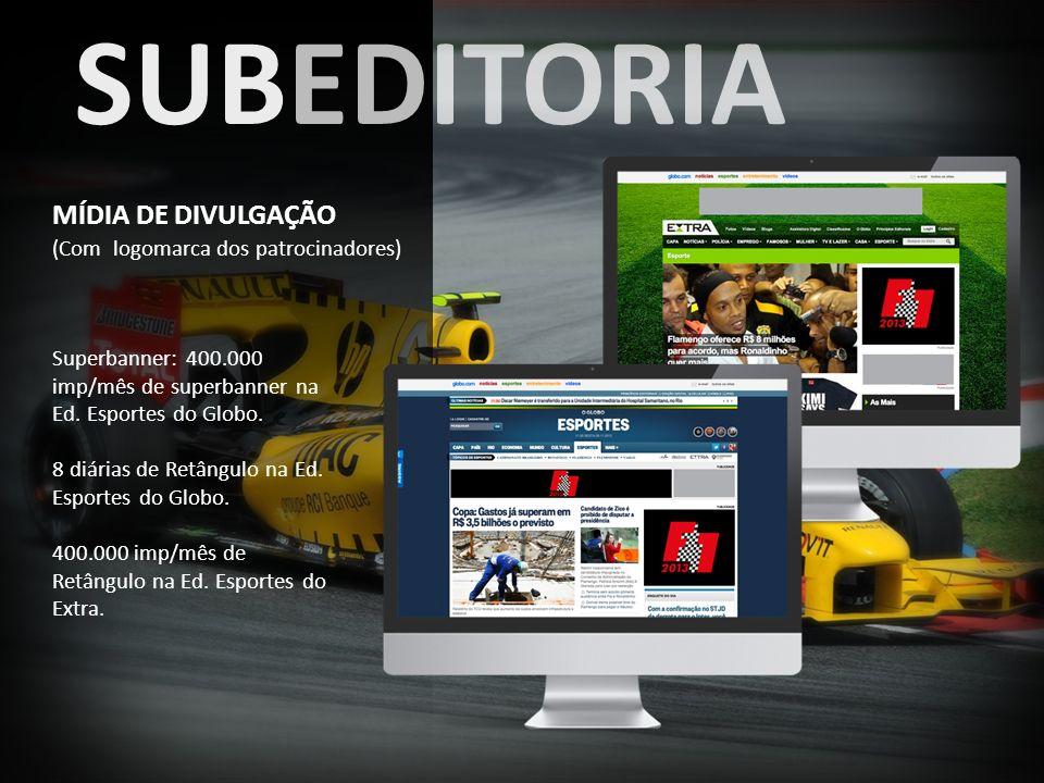 SUBEDITORIA MÍDIA DE DIVULGAÇÃO (Com logomarca dos patrocinadores)