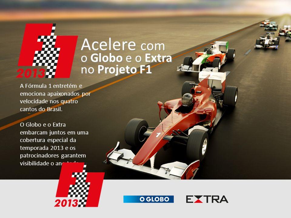Acelere com o Globo e o Extra no Projeto F1