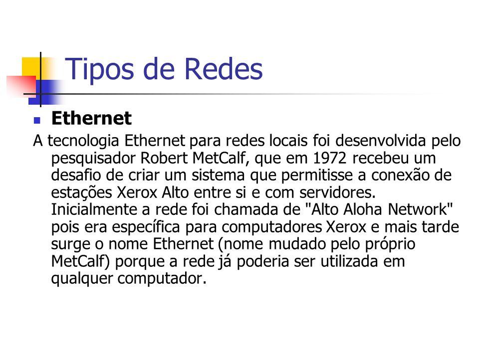 Tipos de Redes Ethernet