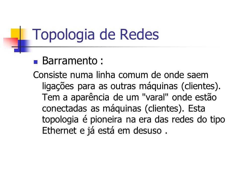 Topologia de Redes Barramento :