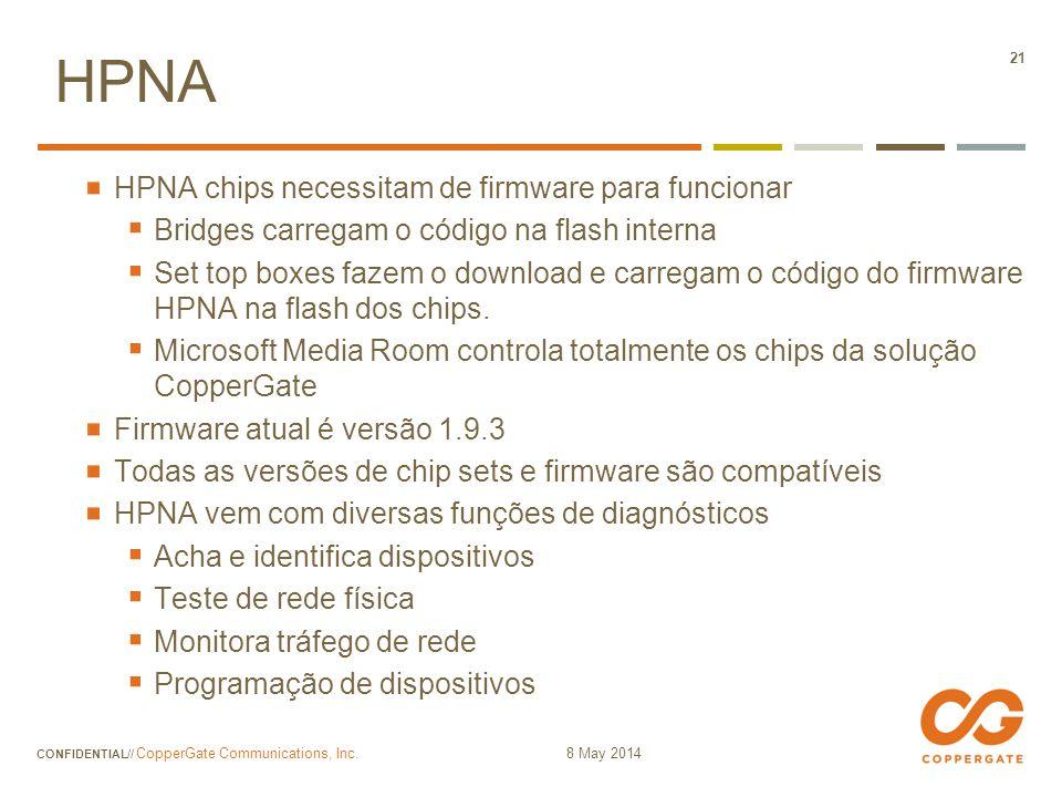 HPNA HPNA chips necessitam de firmware para funcionar