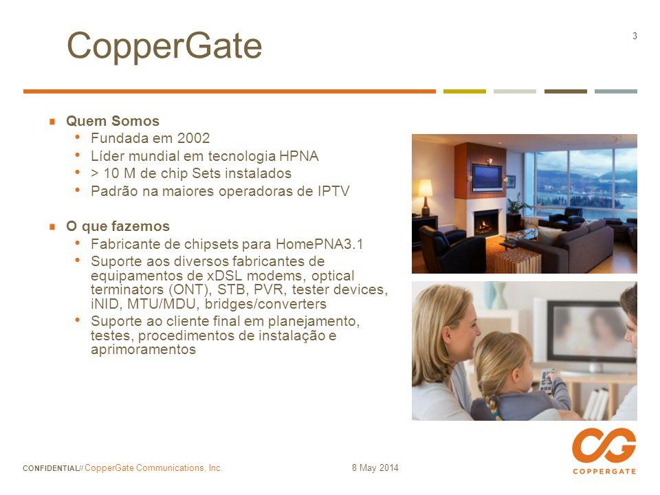 CopperGate Quem Somos Fundada em 2002 Líder mundial em tecnologia HPNA