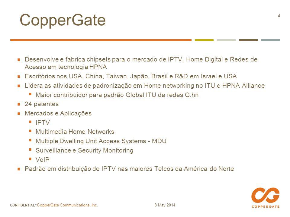 CopperGate Desenvolve e fabrica chipsets para o mercado de IPTV, Home Digital e Redes de Acesso em tecnologia HPNA.