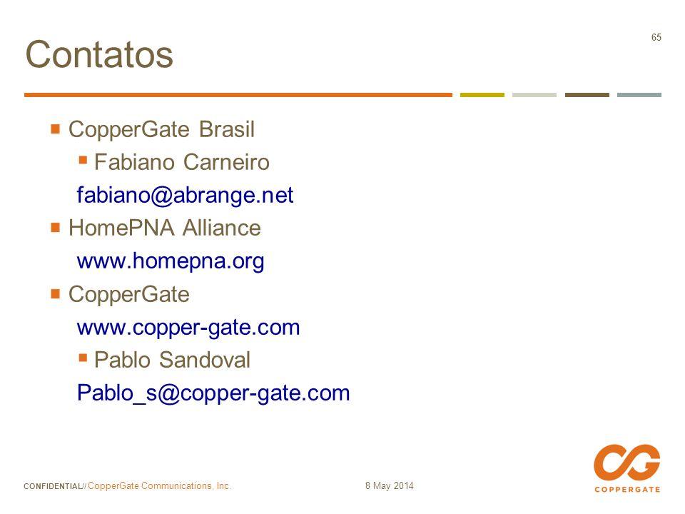 Contatos CopperGate Brasil Fabiano Carneiro fabiano@abrange.net