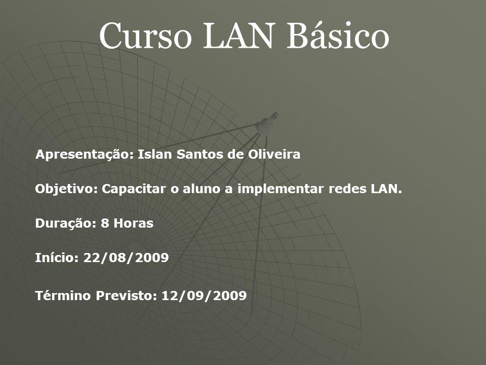 Curso LAN Básico Apresentação: Islan Santos de Oliveira