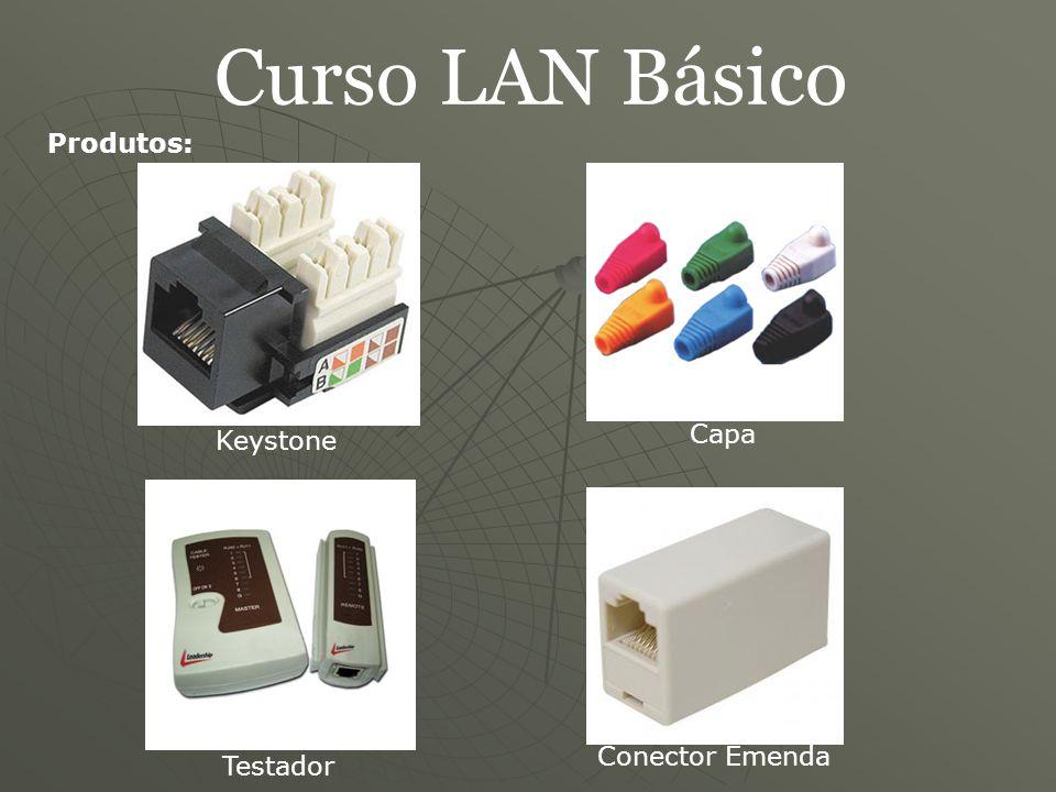 Curso LAN Básico Produtos: Capa Keystone Conector Emenda Testador
