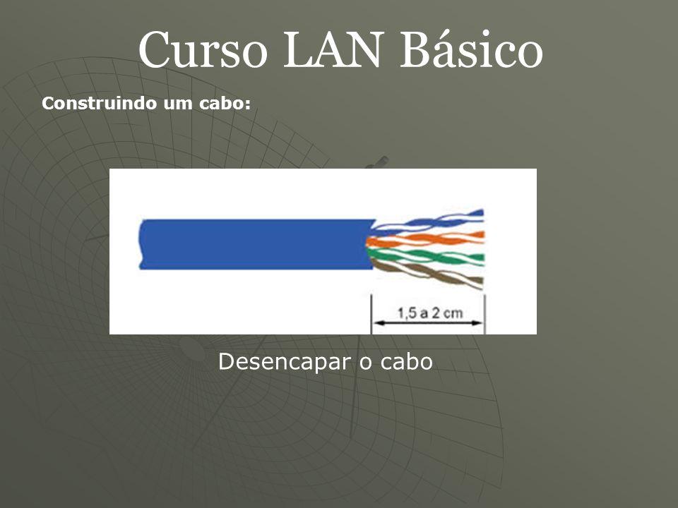 Curso LAN Básico Construindo um cabo: Desencapar o cabo