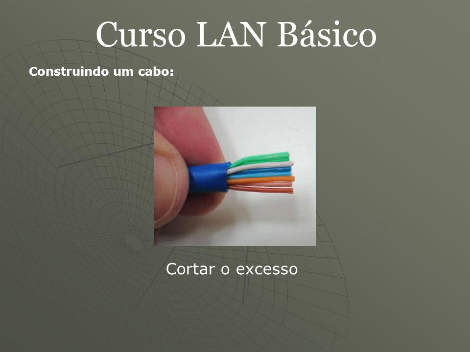 Curso LAN Básico Construindo um cabo: Cortar o excesso