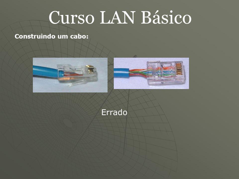 Curso LAN Básico Construindo um cabo: Errado