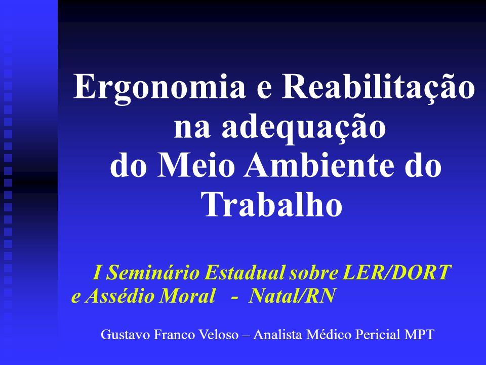 Ergonomia e Reabilitação na adequação do Meio Ambiente do