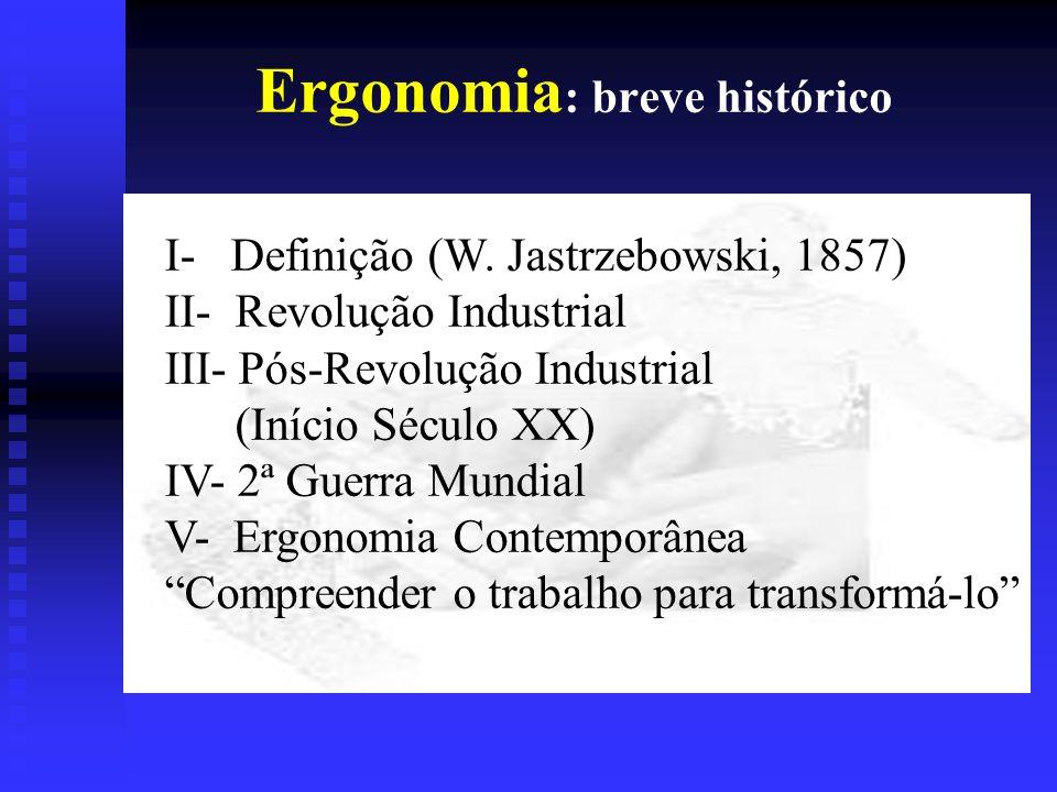 Ergonomia: breve histórico