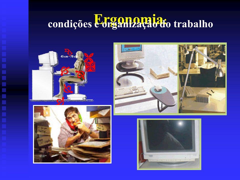 Ergonomia: condições e organização do trabalho