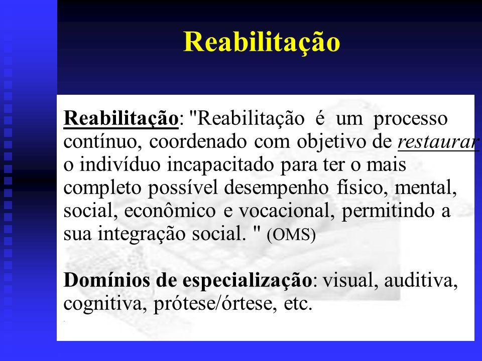 Reabilitação Reabilitação: Reabilitação é um processo