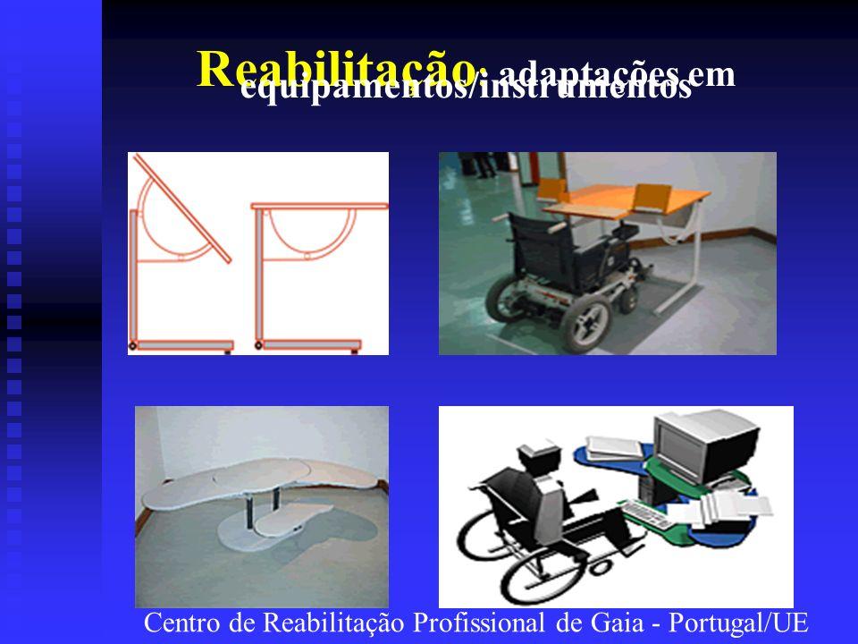 Reabilitação: adaptações em equipamentos/instrumentos