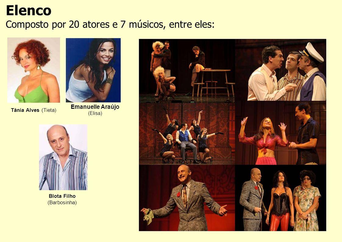 Elenco Composto por 20 atores e 7 músicos, entre eles: