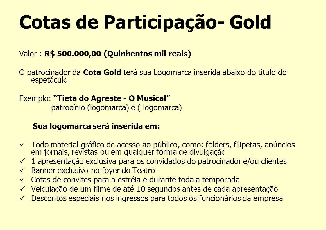 Cotas de Participação- Gold