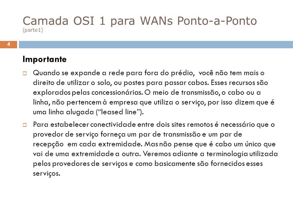 Camada OSI 1 para WANs Ponto-a-Ponto (parte1)