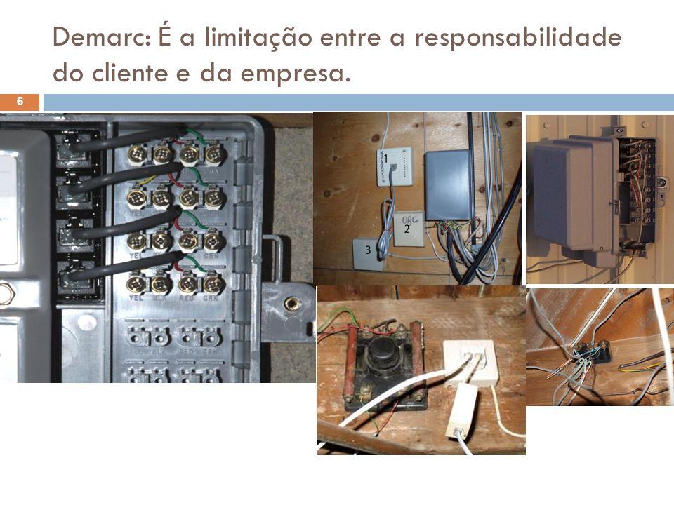 Demarc: É a limitação entre a responsabilidade do cliente e da empresa.