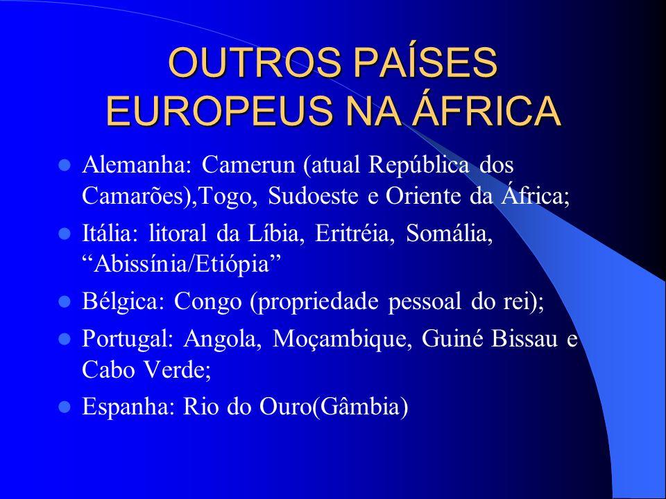OUTROS PAÍSES EUROPEUS NA ÁFRICA