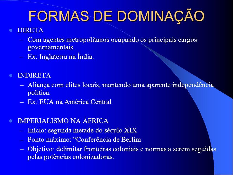 FORMAS DE DOMINAÇÃO DIRETA