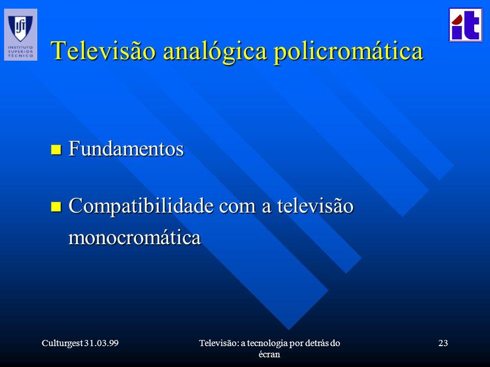 Televisão analógica policromática