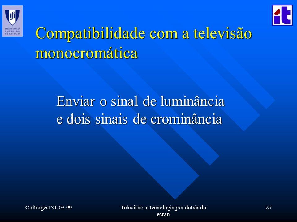 Compatibilidade com a televisão monocromática