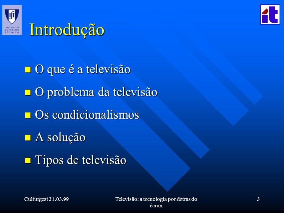 Televisão: a tecnologia por detrás do écran