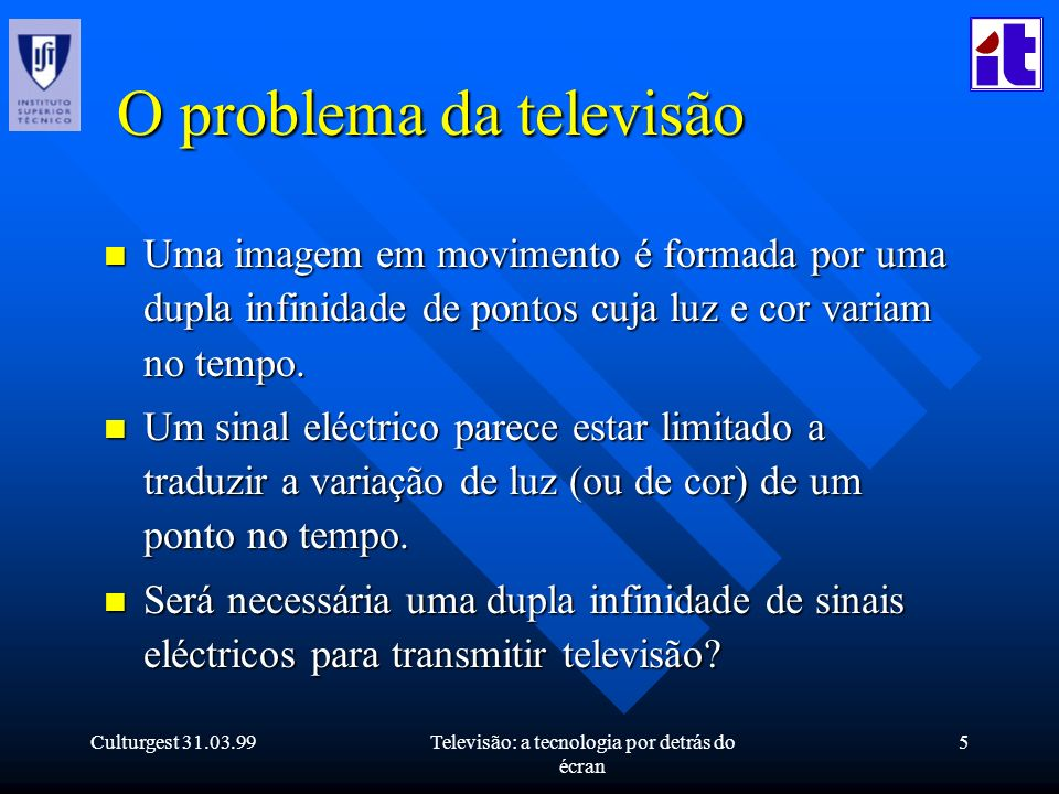 O problema da televisão