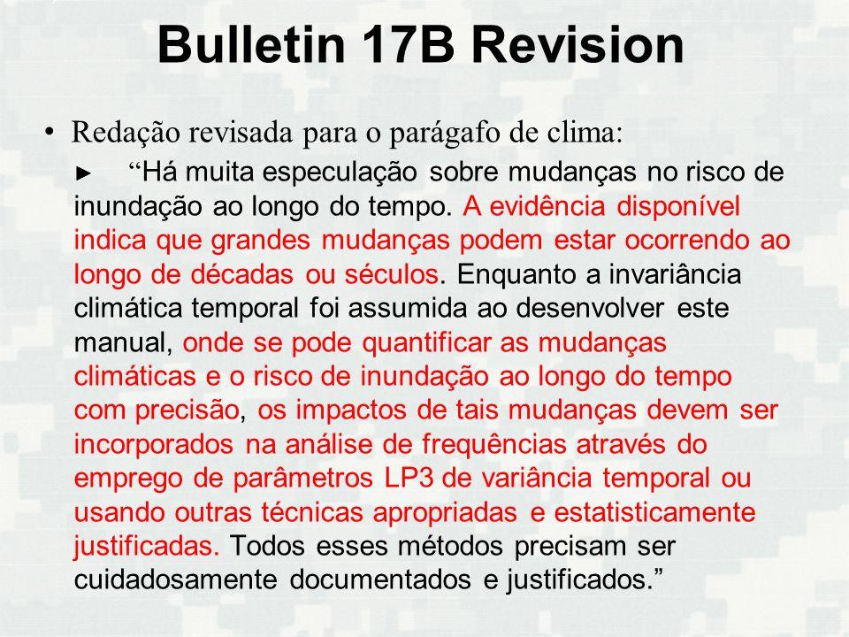 Bulletin 17B Revision Redação revisada para o parágafo de clima: