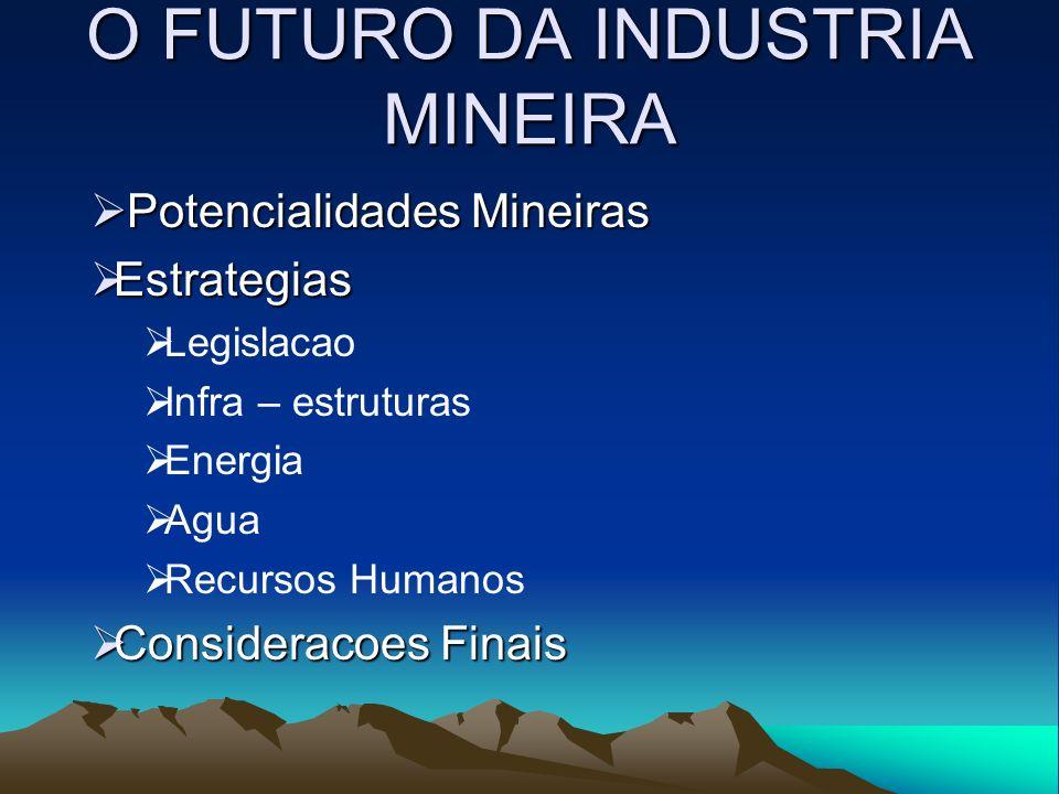 O FUTURO DA INDUSTRIA MINEIRA