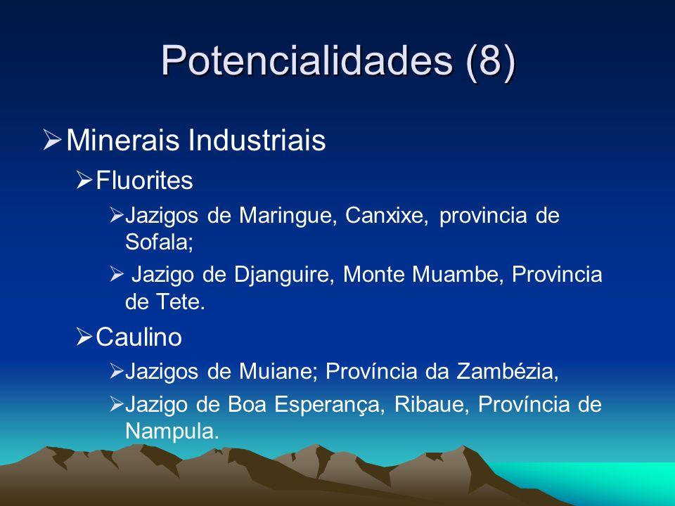 Potencialidades (8) Minerais Industriais Fluorites Caulino