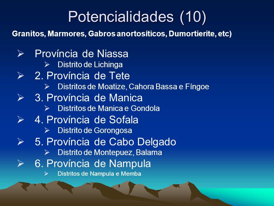 Potencialidades (10) Província de Niassa 2. Província de Tete