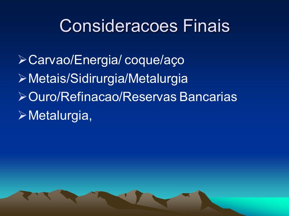 Consideracoes Finais Carvao/Energia/ coque/aço
