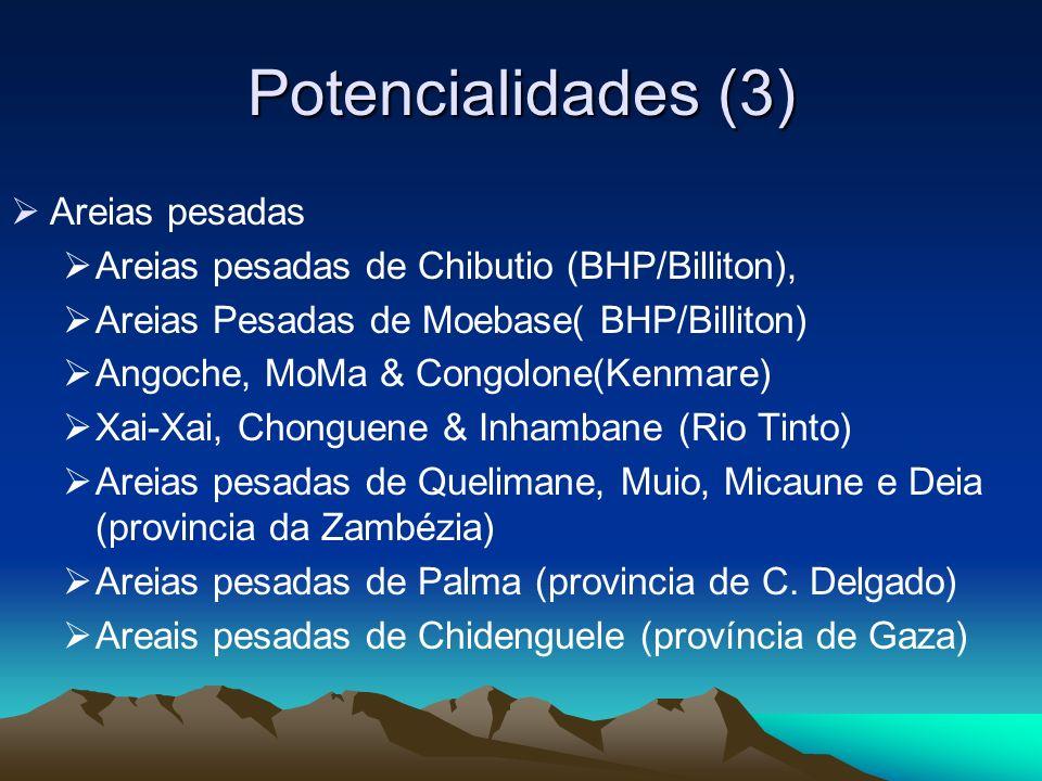 Potencialidades (3) Areias pesadas